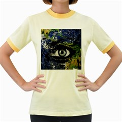 Mother Earth  Women s Fitted Ringer T-Shirts