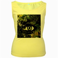 Mother Earth  Women s Yellow Tank Top