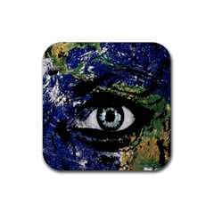 Mother Earth  Rubber Square Coaster (4 pack)