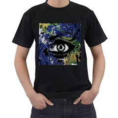 Mother Earth  Men s T-Shirt (Black) (Two Sided)