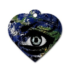 Mother Earth  Dog Tag Heart (Two Sides)