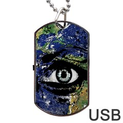 Mother Earth  Dog Tag USB Flash (Two Sides)
