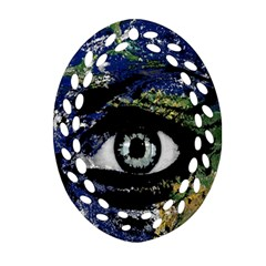 Mother Earth  Ornament (Oval Filigree)