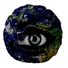 Mother Earth  Large 18  Premium Round Cushions