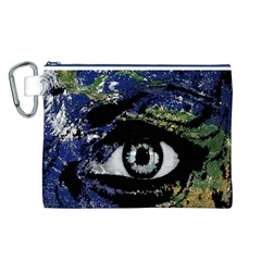 Mother Earth  Canvas Cosmetic Bag (L)