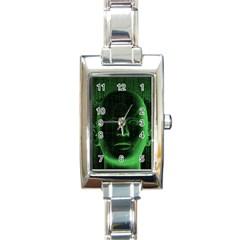 Code  Rectangle Italian Charm Watch