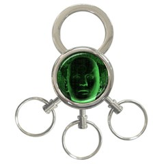 Code  3-Ring Key Chains