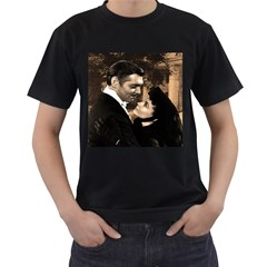 Gone with the Wind Men s T-Shirt (Black) (Two Sided)