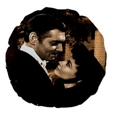 Gone with the Wind Large 18  Premium Round Cushions