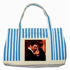 Gone with the Wind Striped Blue Tote Bag
