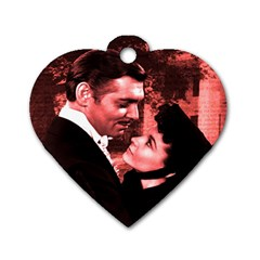Gone with the Wind Dog Tag Heart (One Side)