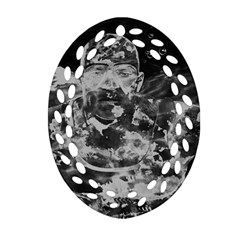 Angel Oval Filigree Ornament (Two Sides)