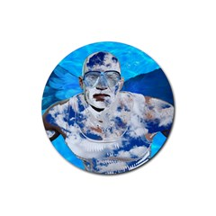 Swimming angel Rubber Round Coaster (4 pack)