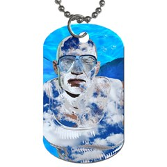 Swimming angel Dog Tag (Two Sides)