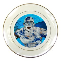 Swimming angel Porcelain Plates