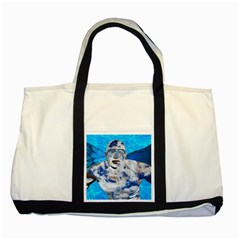 Swimming angel Two Tone Tote Bag