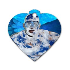 Swimming angel Dog Tag Heart (One Side)