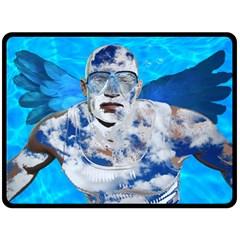 Swimming angel Fleece Blanket (Large)