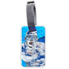 Swimming angel Luggage Tags (One Side)