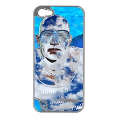 Swimming angel Apple iPhone 5 Case (Silver)