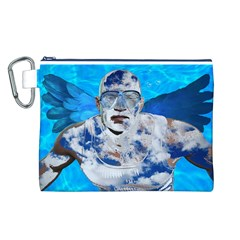 Swimming angel Canvas Cosmetic Bag (L)