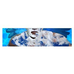 Swimming angel Satin Scarf (Oblong)