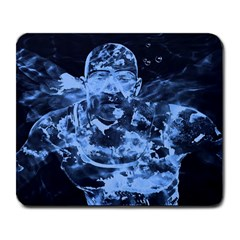 Blue angel Large Mousepads