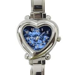 Blue angel Heart Italian Charm Watch
