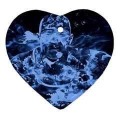 Blue angel Heart Ornament (Two Sides)