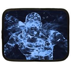 Blue angel Netbook Case (Large)