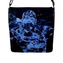 Blue angel Flap Messenger Bag (L)