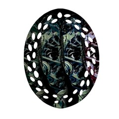 Cyber kid Ornament (Oval Filigree)