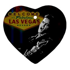 Elvis Presley - Las Vegas  Heart Ornament (Two Sides)