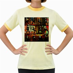 Elvis Presley - Las Vegas  Women s Fitted Ringer T-Shirts