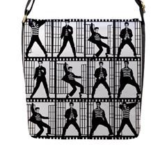 Elvis Presley Flap Messenger Bag (L)