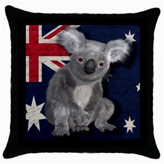 Australia  Throw Pillow Case (Black)