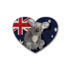 Australia  Rubber Coaster (Heart)
