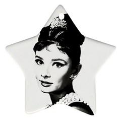 Audrey Hepburn Ornament (Star)