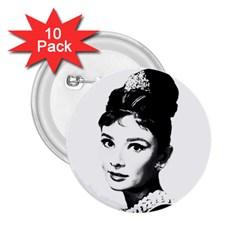 Audrey Hepburn 2.25  Buttons (10 pack)