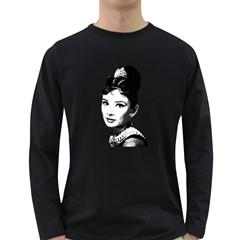 Audrey Hepburn Long Sleeve Dark T-Shirts