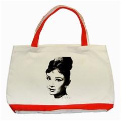 Audrey Hepburn Classic Tote Bag (Red)