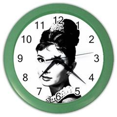 Audrey Hepburn Color Wall Clocks