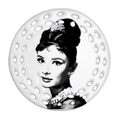 Audrey Hepburn Round Filigree Ornament (Two Sides)
