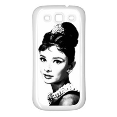 Audrey Hepburn Samsung Galaxy S3 Back Case (White)