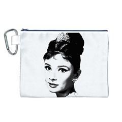 Audrey Hepburn Canvas Cosmetic Bag (L)