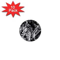 Gray girl  1  Mini Buttons (10 pack)