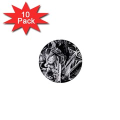 Gray girl  1  Mini Magnet (10 pack)