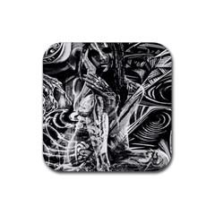 Gray girl  Rubber Coaster (Square)