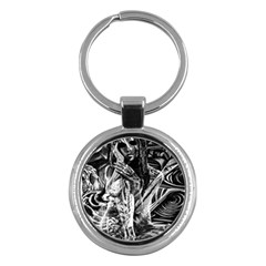 Gray girl  Key Chains (Round)