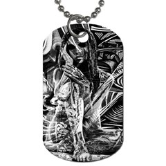 Gray girl  Dog Tag (One Side)